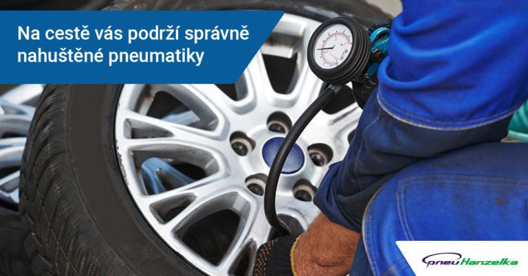 správně nahuštěné pneumatiky